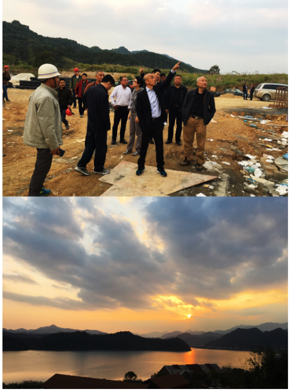 Chairman Zhou ChuanYou came to Tonglu hotel and presided over the on-site work